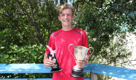 George Stoupe wins both the National Under 16 singles and doubles titles
