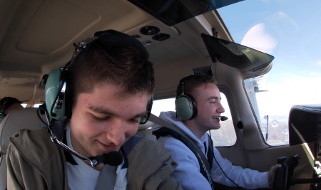 Congratulations to Thomas Mitchell for completing his first passenger flight from Wellington to Nelson