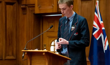 Ben Penno's team won the Regional Debating Competition